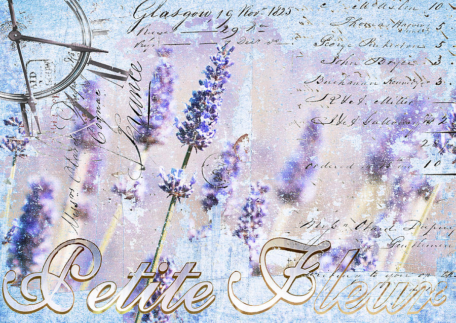 Lavender Time Mixed Media