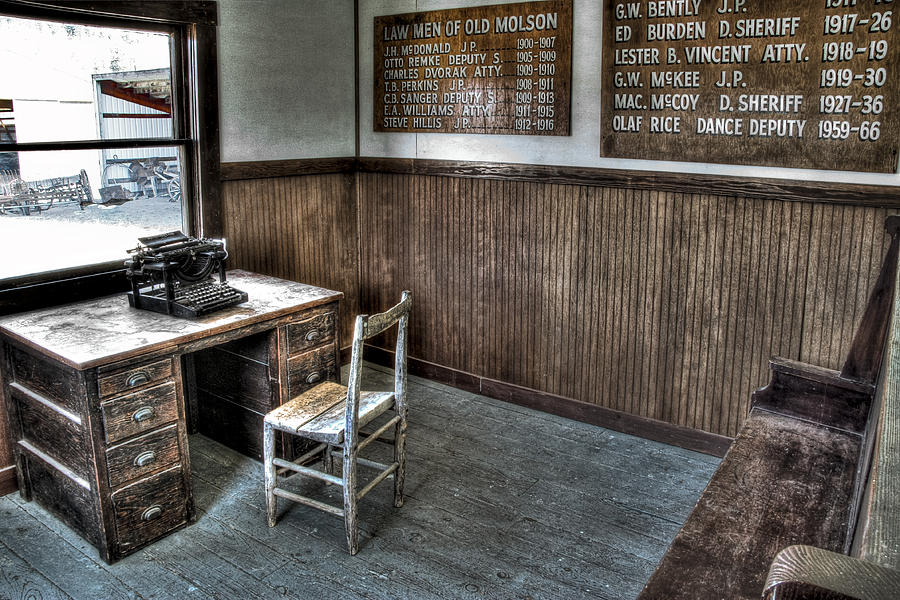 Sheriff Photograph - Law Mans Office - Molson Ghost Town by Daniel Hagerman