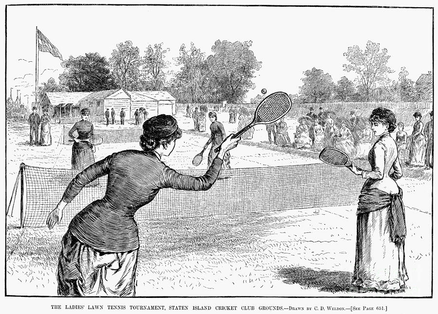 1883 Photograph - Lawn Tennis, 1883 by Granger