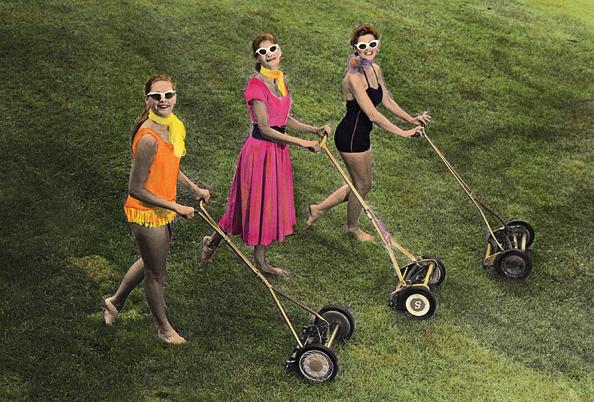 Lawnmower Girls Photograph