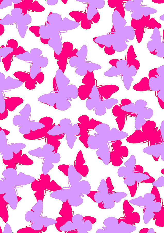 Layered Butterflies  Digital Art  - Layered Butterflies  Fine Art Print