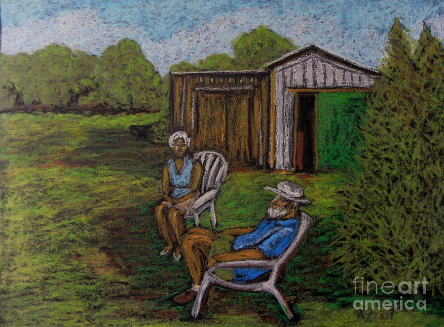 Lazy Day On The Farm Pastel  - Lazy Day On The Farm Fine Art Print