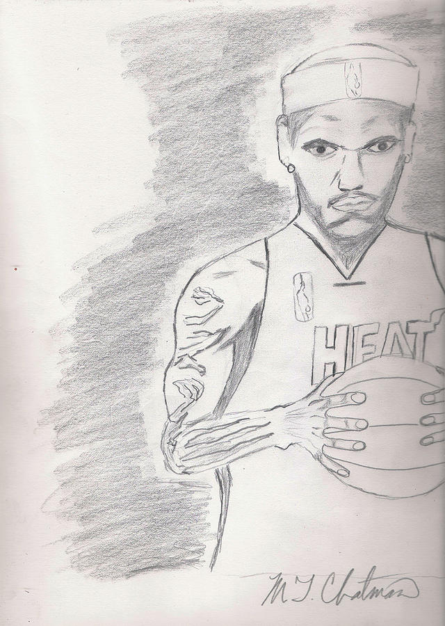 LBJ Drawing  - LBJ Fine Art Print