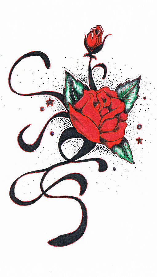 Le Rose Drawing  - Le Rose Fine Art Print
