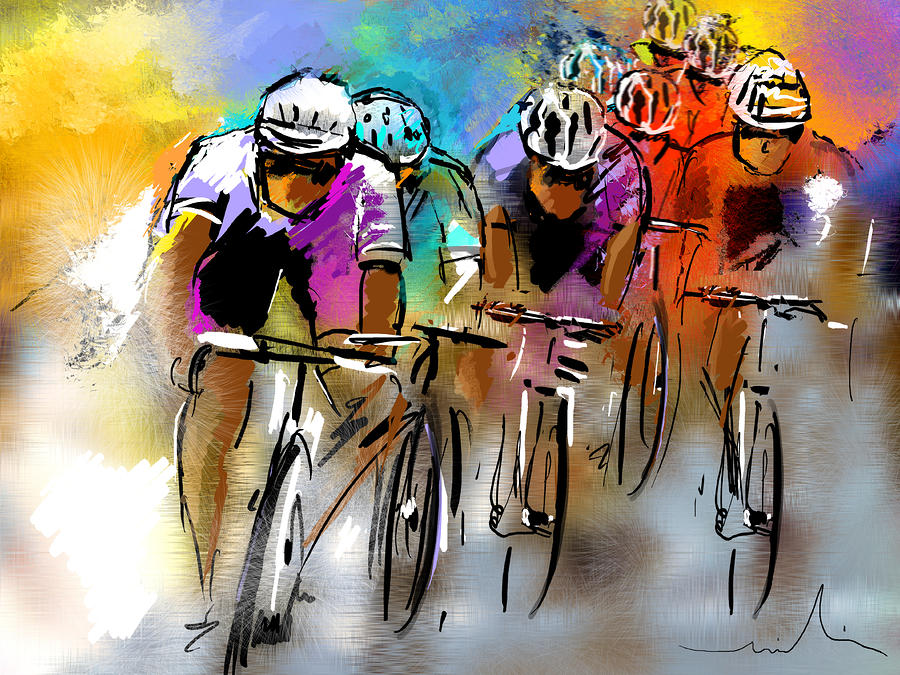 Le Tour De France 03 Painting  - Le Tour De France 03 Fine Art Print