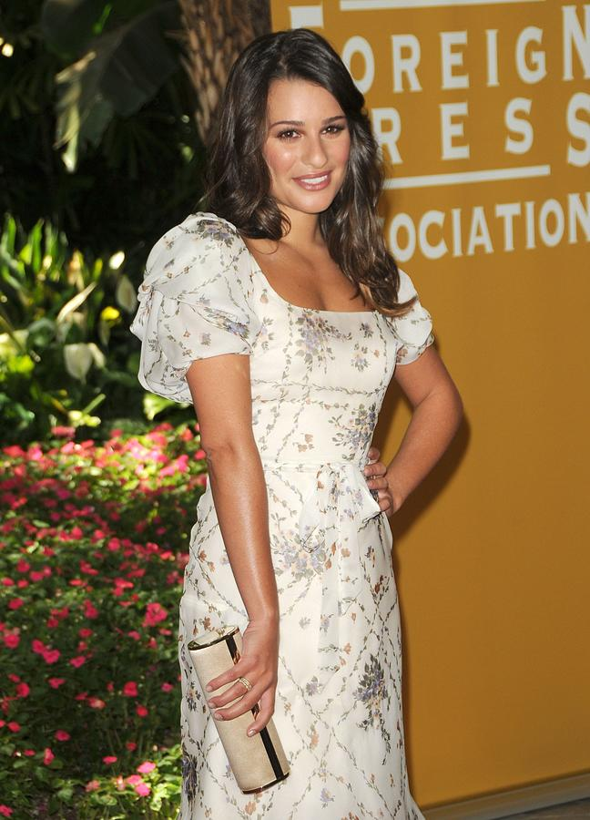 Lea Michele Wearing A Valentino Resort Photograph