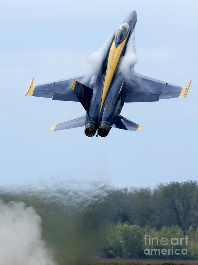 Lead Solo Pilot Of The Blue Angels Photograph