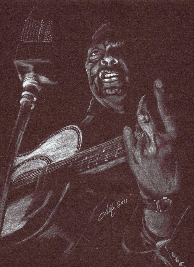 Leadbelly Drawing  - Leadbelly Fine Art Print