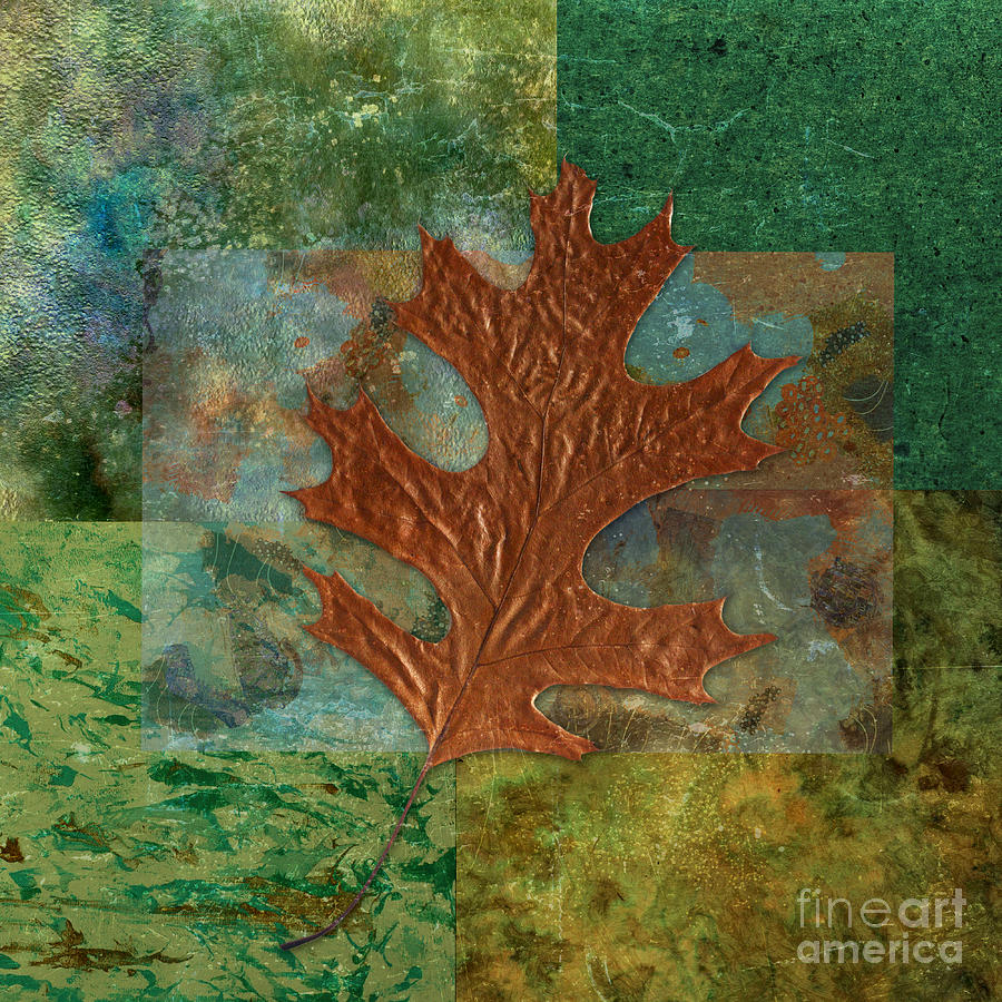 Leaf Digital Art - Leaf Life 01 - Green 01b2 by Variance Collections