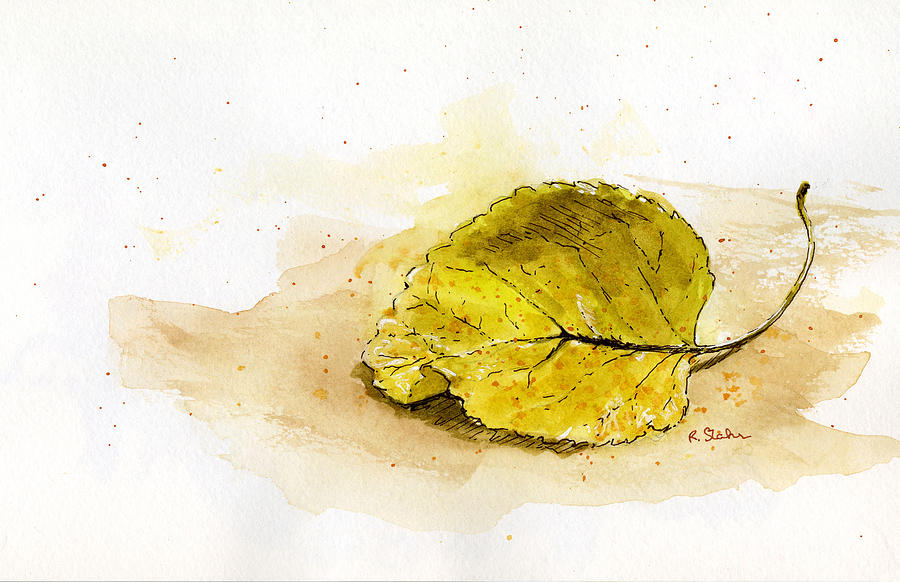 Leaf Study No. 1 Mixed Media  - Leaf Study No. 1 Fine Art Print
