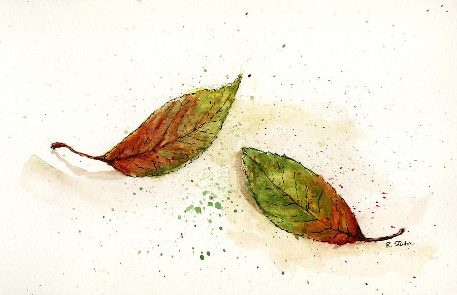 Leaf Study No. 2 Mixed Media  - Leaf Study No. 2 Fine Art Print