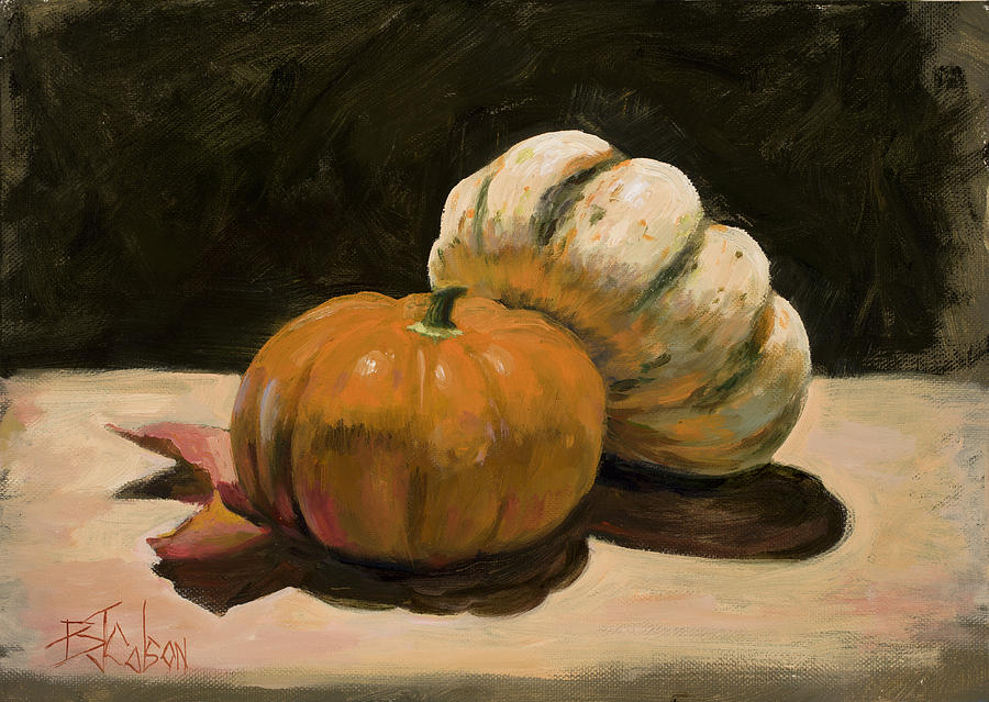 Pumkins Painting - Lean On Me by Billie Colson