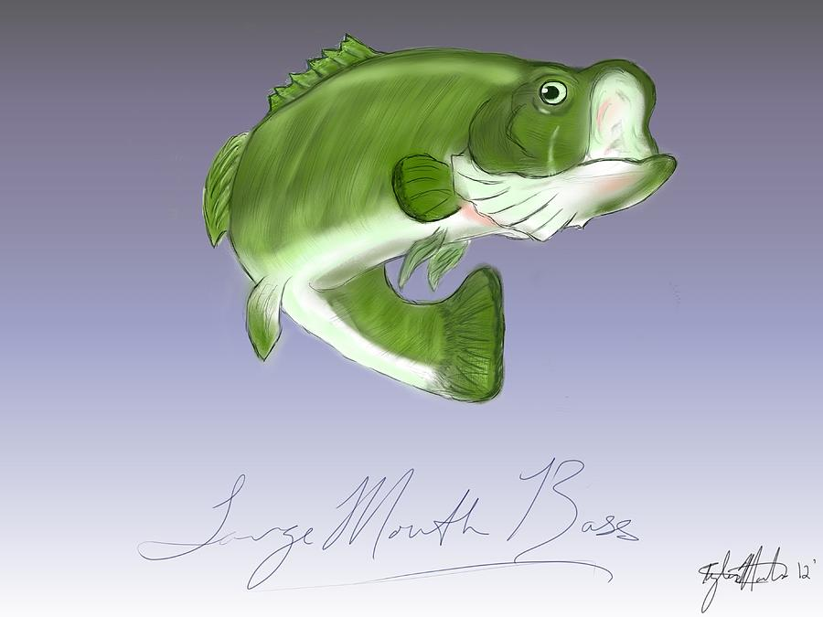 Leaping Bass Painting  - Leaping Bass Fine Art Print