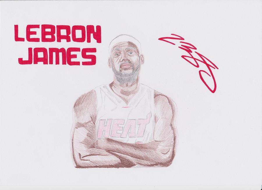 Lebron James Drawing  - Lebron James Fine Art Print