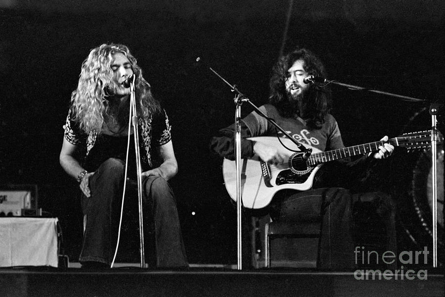 Led Zeppelin 1971 Acoustic Photograph  - Led Zeppelin 1971 Acoustic Fine Art Print