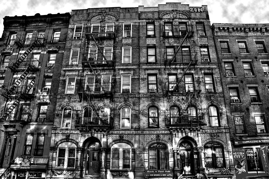 Led Zeppelin Physical Graffiti Building In Black And White Photograph  - Led Zeppelin Physical Graffiti Building In Black And White Fine Art Print