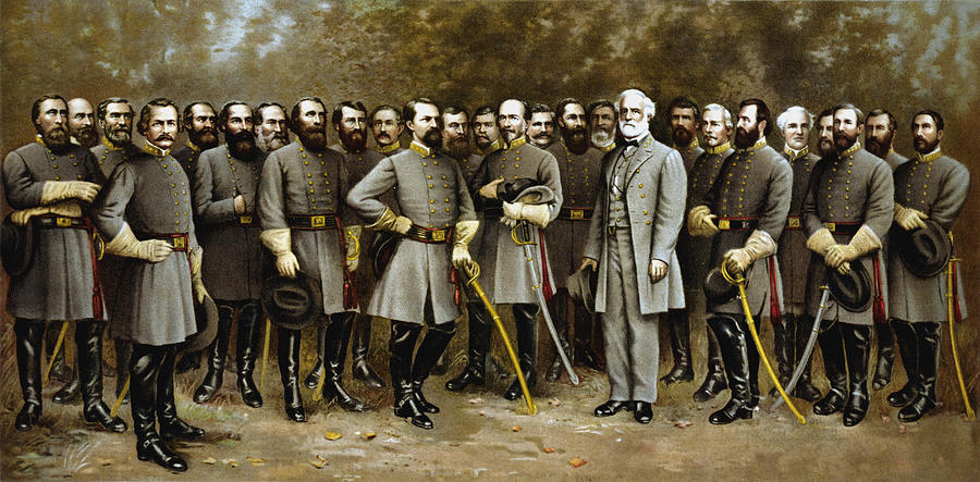 Lee And His Generals Painting  - Lee And His Generals Fine Art Print