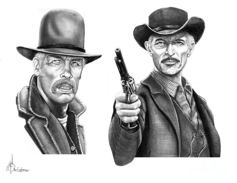 Lee Marvin-lee Van Cleef Drawing