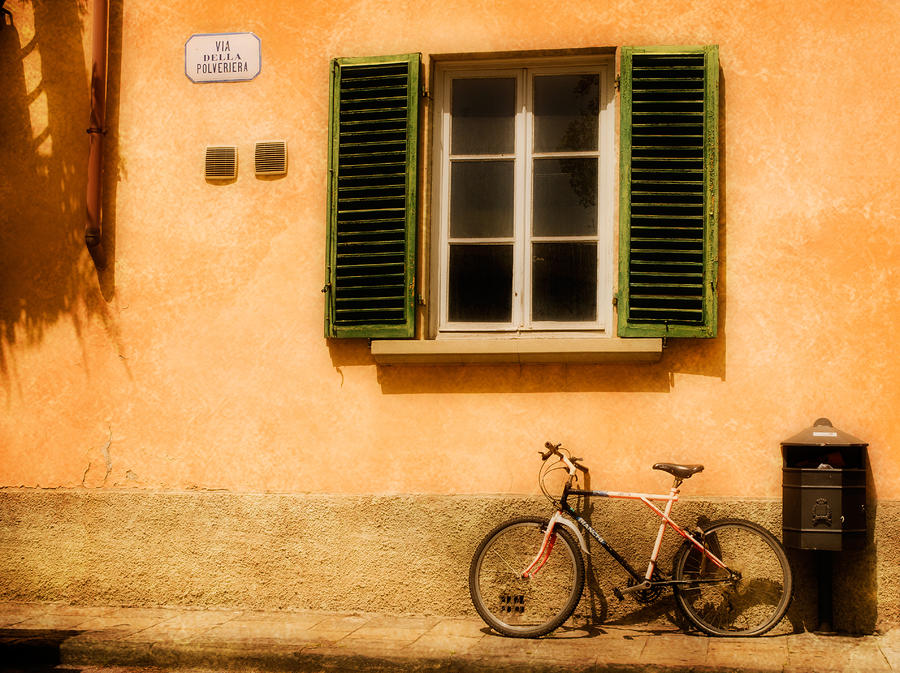 Left Flat In Lucca Photograph  - Left Flat In Lucca Fine Art Print