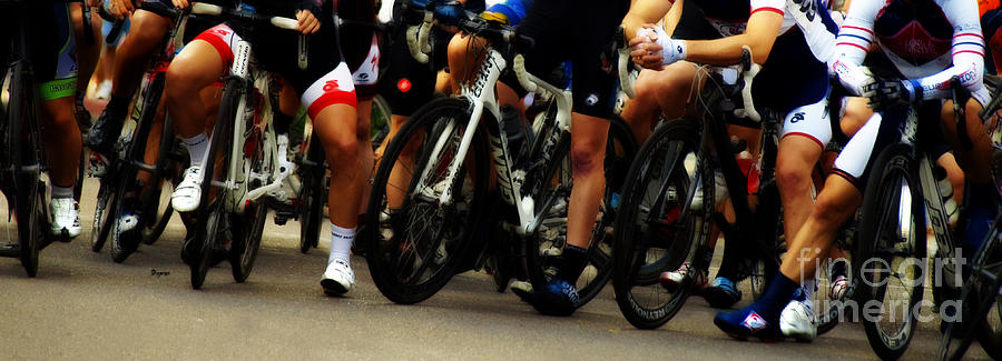 Bicycle Photograph - Leg Works  by Steven  Digman
