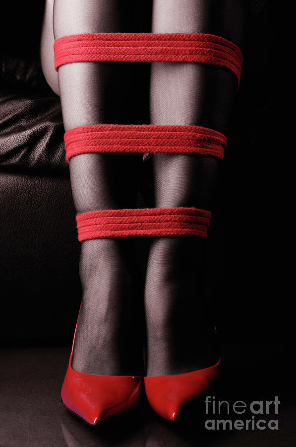Legs In Red Ropes Photograph