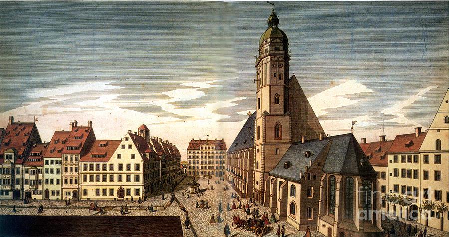 1735 Photograph - Leipzig: St. Thomas Church by Granger