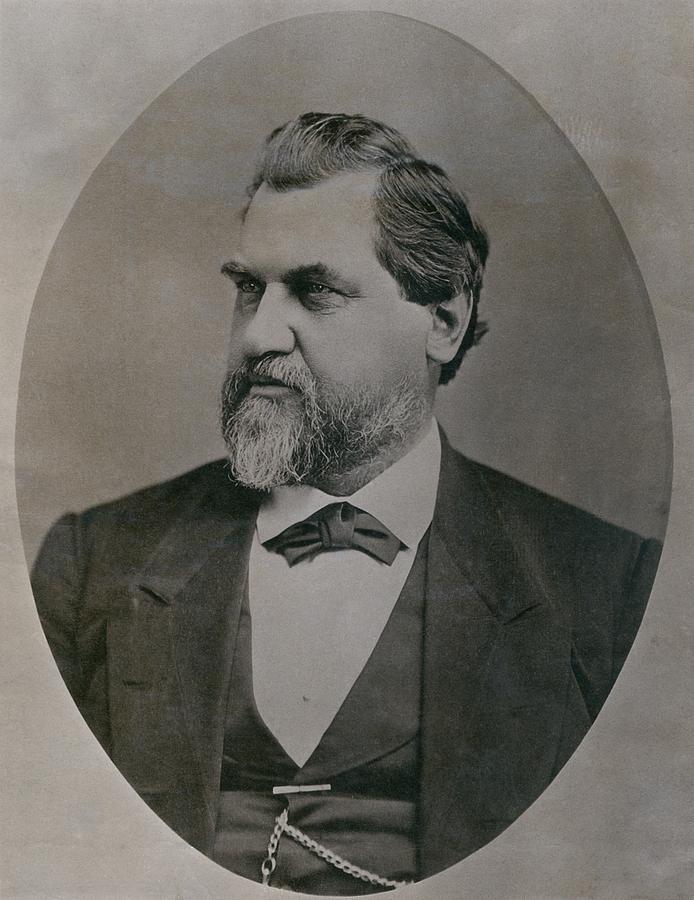 History Photograph - Leland Stanford 1824-1893 Was Drawn by Everett