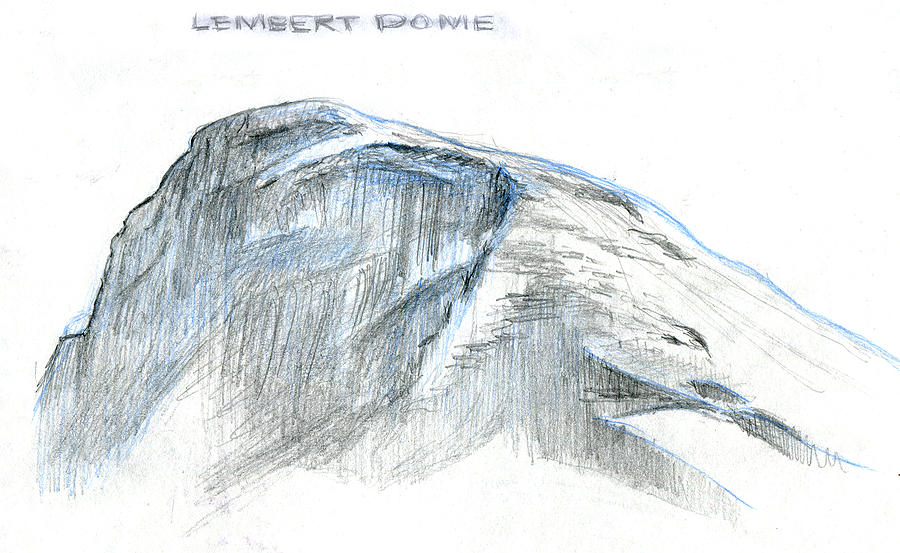 Lembert Dome At Noon Drawing
