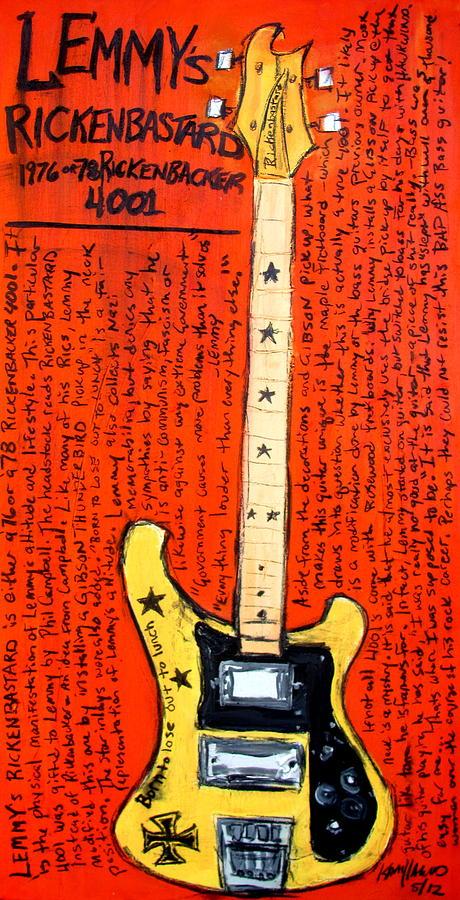 Lemmys Rickenbacker 4001 Rickenbastard Painting
