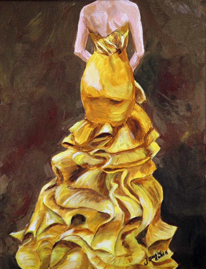 Dress Painting - Lemon Twist by Jennifer Koach