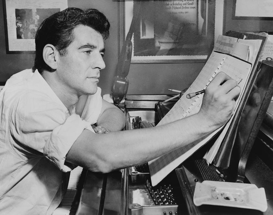 Leonard Bernstein 1918-1990, Seated by Everett