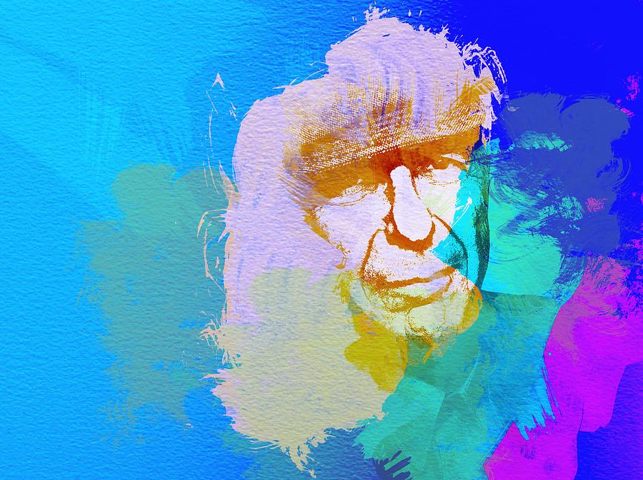 Leonard Cohen Painting