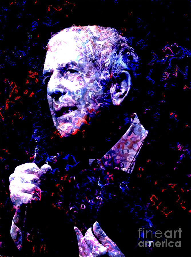 Leonard Cohen Mixed Media
