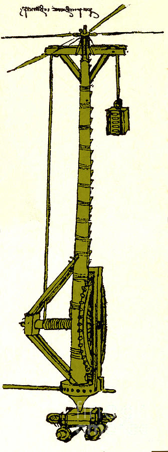 Leonardo Da Vincis Lifting Gear Photograph