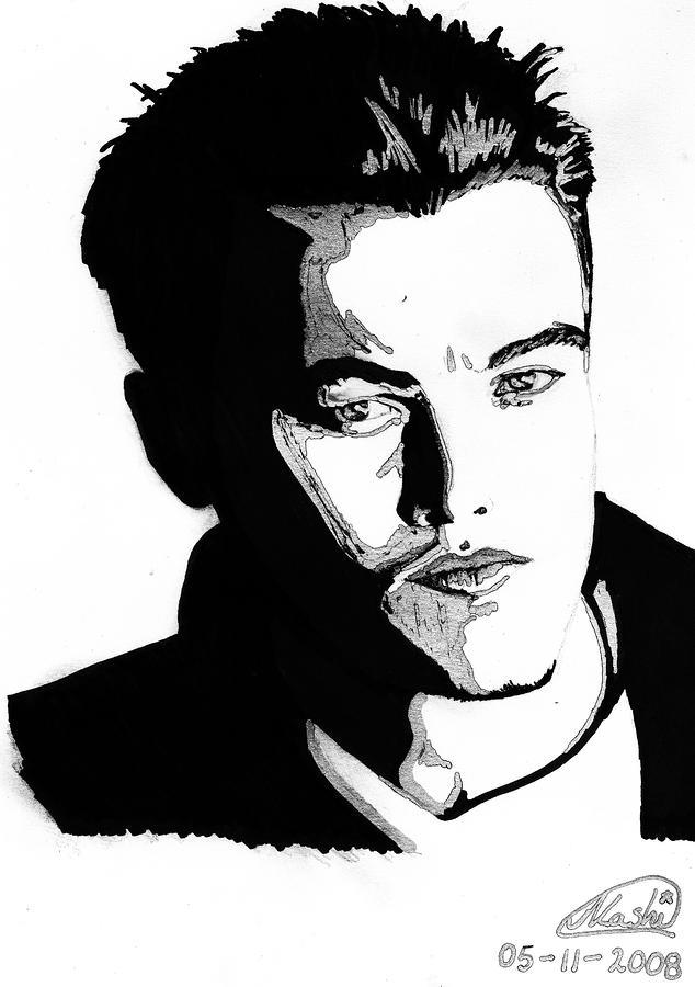 Leonardo Dicaprio Portrait Mixed Media