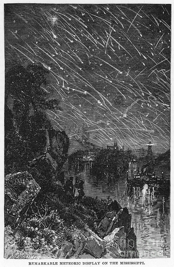 Leonid Meteor Shower, 1833 Photograph