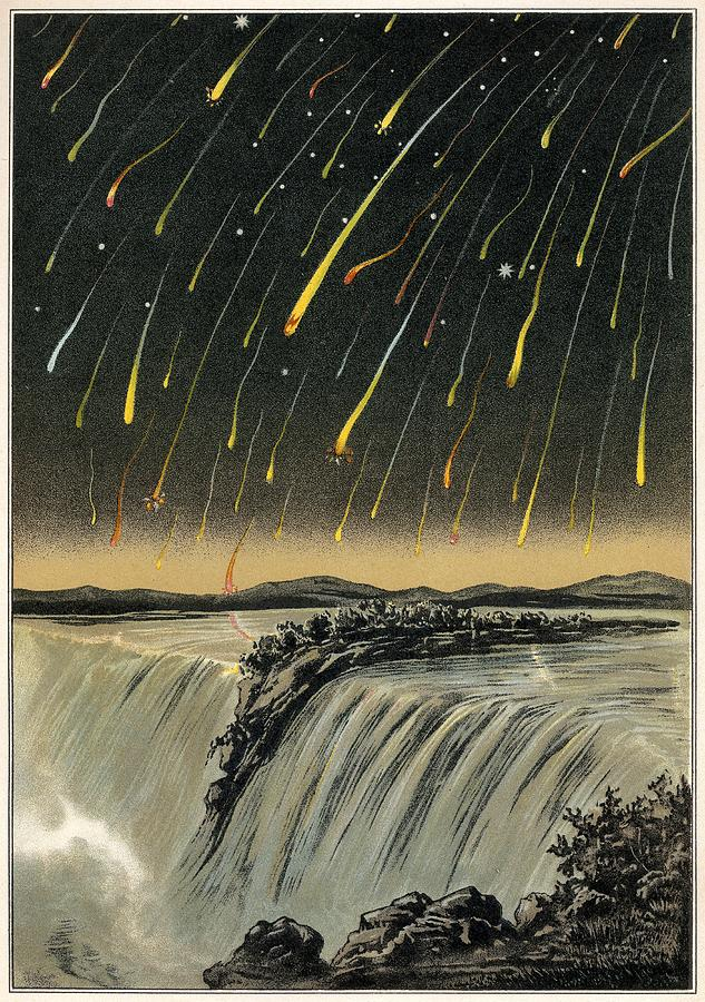 Leonid Meteor Shower Of 1833, Artwork Photograph  - Leonid Meteor Shower Of 1833, Artwork Fine Art Print