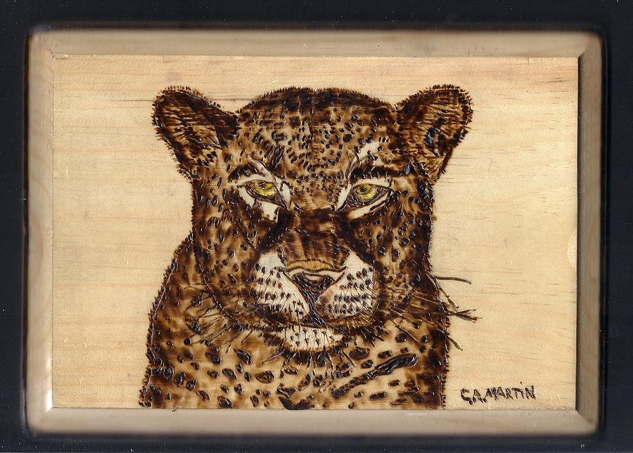 Pyrography Pyrography - Leopard by Clarence Butch Martin