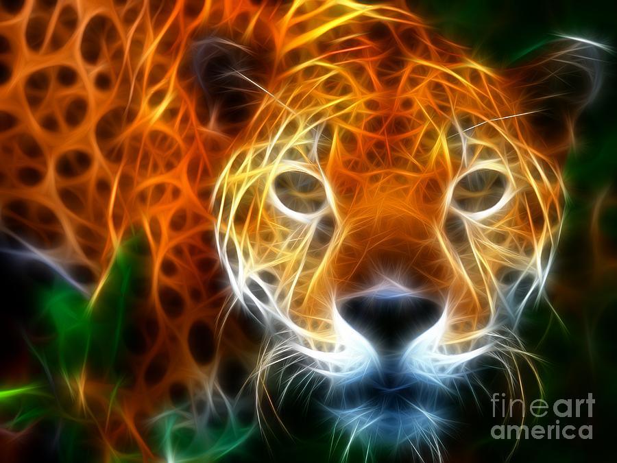 Leopard Watching At His Prey Mixed Media