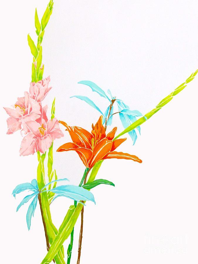 Les Jolies Fleurs  Painting
