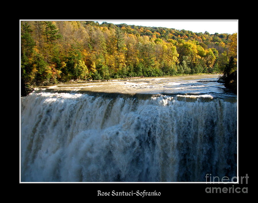Letchworth State Park Middle Falls In Autumn Photograph  - Letchworth State Park Middle Falls In Autumn Fine Art Print
