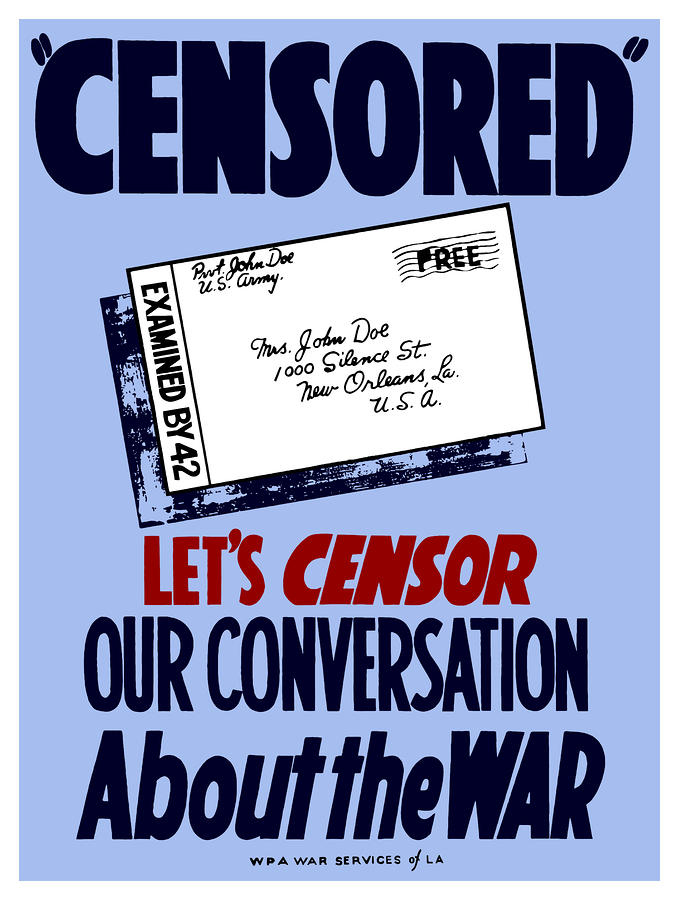 Lets Censor Our Conversation About The War Digital Art
