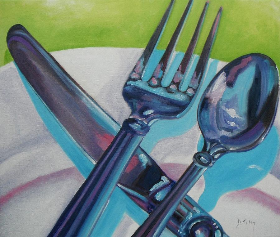 Lets Eat Painting  - Lets Eat Fine Art Print