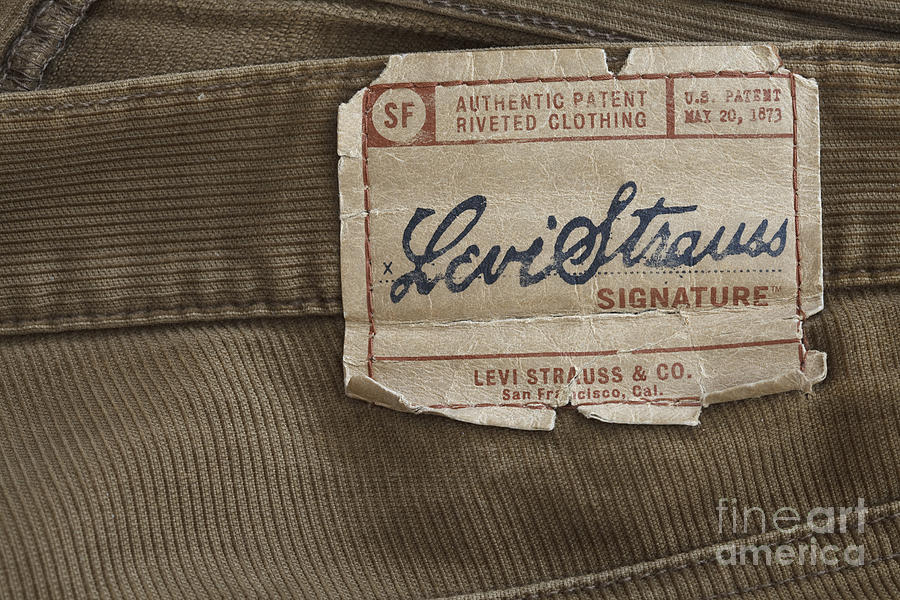 Levi Strauss Signature Back Patch Photograph  - Levi Strauss Signature Back Patch Fine Art Print