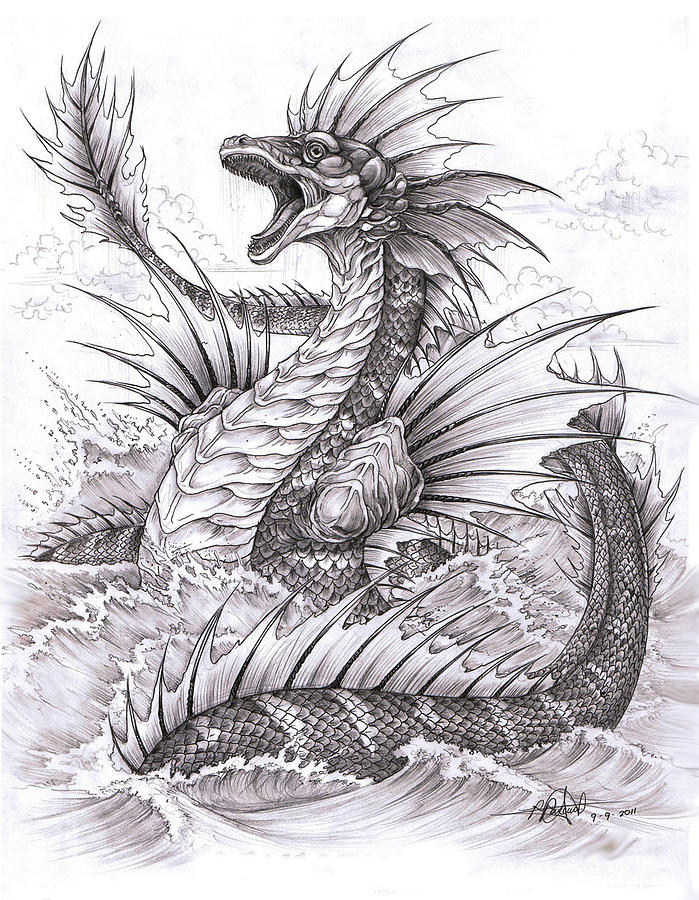 Leviathan Drawing by Rommel Pascual