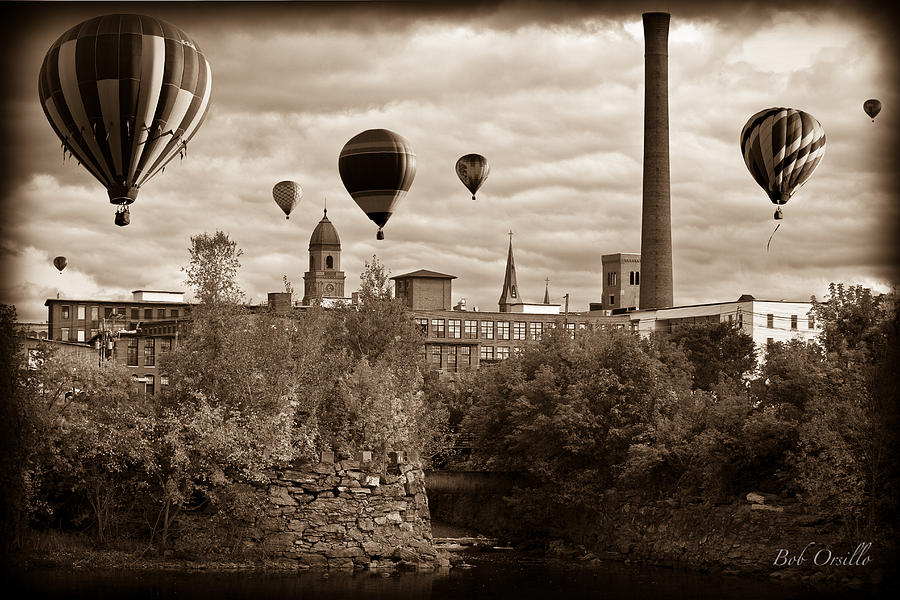 Lewiston Maine Hot Air Balloons Photograph