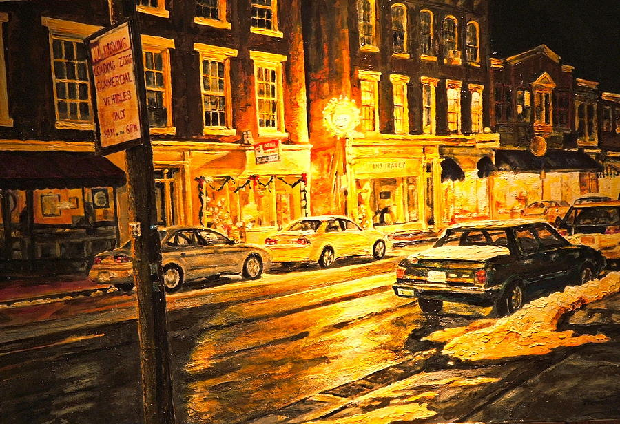 Lexington Street Light Painting  - Lexington Street Light Fine Art Print