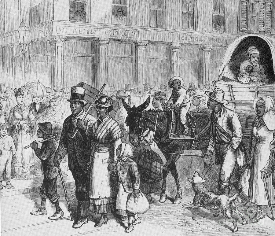 Liberated Slaves, 1861 Photograph