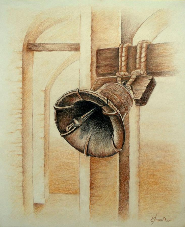 Bell Drawing - Liberty Bell by Lena Day