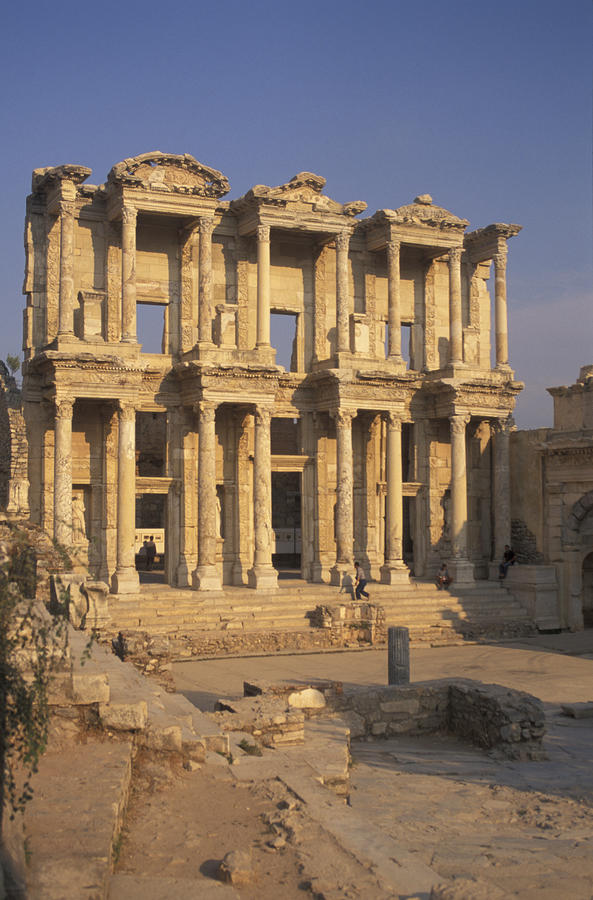 Library Of Celsius In  Ephesus, Turkey Photograph  - Library Of Celsius In  Ephesus, Turkey Fine Art Print